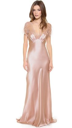 Jenny Packham negligee with delicate scalloped detailing