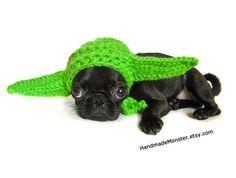 STAR WARS DOG hat costume yoda inspired pet by HandmadeMonster, $20.00