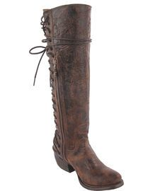 Junk Gypsy by Lane Women's Idlewood Tall Lace Up Boots - Round Toe,