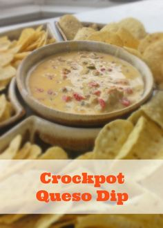 Crockpot queso dip is an easy crockpot dip recipe that's great for tailgating parties or your summer get togethers. Click the pin to get this easy crockpot queso.