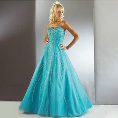 8695f79b64f Custom Blue Beaded Masquerade Wedding Bridal Ball Gown Dress Plus Size  SKU-120020 Masquerade Ball