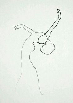 Art pint by Quibe, one line drawing Life Drawing, Figure Drawing, Painting & Drawing, Minimalist Drawing, Minimalist Art, Illustration Art, Illustrations, Wire Art, Art Inspo