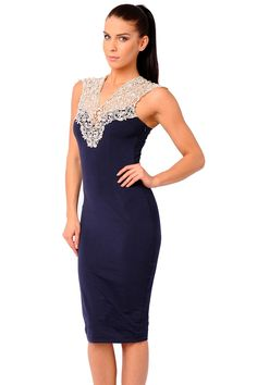 Beautiful Navy Midi Dresses
