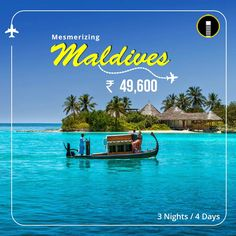Mesmerizing Maldives travel package banner design