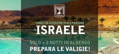 Ho appena partecipato al contest per vincere un Viaggio in Israele per 2 persone, clicca e partecipa anche tu!