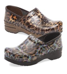 Dansko® Women's Big Cat Multi Professional Clogs in Cheetah and Leopard - love these!