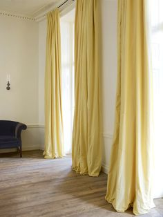 rose uniake yellow curtains Interiors | London Townhouse