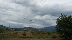 Parachute training near Calvi.