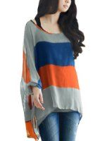 Allegra K Women V Neck Tunic Tops Side Split Tee Batwing Top High Low Tops at Amazon Women's Clothing store: