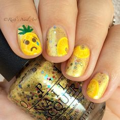 """Pineapples Have Peelings Too!"" by OPI #ruthsnailart #nailart"
