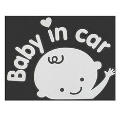 Cute Girl Baby On Board Baby In Car Window Car Sticker Auto - Cool car stickers for girls
