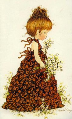 Immagini Sara Kay e Holly Hobbie Sarah Key, Holly Hobbie, Decoupage, Sara Key Imagenes, Papier Kind, Mary May, Anne Geddes, Illustration Girl, Illustrations