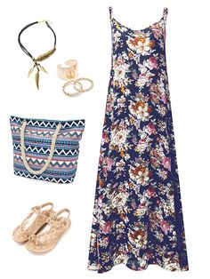 Other women's sportswear - bohemian women floral printed spa Maxi Outfits, Boho Outfits, Maxi Dresses, Maxi Skirts, Floral Outfits, Floral Dresses, Colorful Fashion, Boho Fashion, Fashion Styles