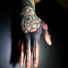 Hand Tattoo Blackwork