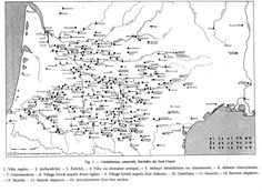 Map of bastides, castelnaux, & sauvetes