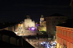 Twitter / Pirul789: #Carpi, Piazza Martiri bella di sera