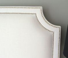 Upholstered Headboard Belgrave Shaped White Slub by ShorelineHome, $295.00