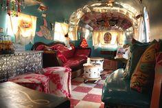 Miranda Lambert's amazing renovated airstream interior - with drums!
