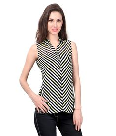 Zarana White Polyester Tops  available at snapdeal for Rs.499