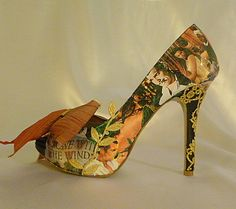 $420 … GONE WITH THE WIND Theme Wedding shoes … Digital Print Images…bespoke design
