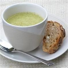 quick scratch-made cream of broccoli soup. * great, plain cream of broccoli, not lots of flavor, just good, add shaving of nutmeg to pot