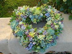 Succulent Wreath Heart