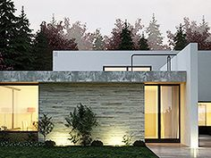 When you choose modern house plans as the basis for the design of your home, you veer off from the overt use of traditional styles that seem to be promi… Style At Home, Modern Style Homes, Minimal Architecture, Contemporary Architecture, Container Shop, Bay Lights, Outdoor Lighting, Outdoor Decor, Quad