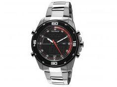 Relógio Masculino Technos CA948A/1R Anadigi - com Cronógrafo e Calendário Resistente à Água - OFERTÃO Magazine Dufrom de R$ 379,90 por R$ 179,90 e em 8x R$ 22,49 - Vendas E-mail: fromrepresentante@gmail.com | (16) 30248427 - José Antonio