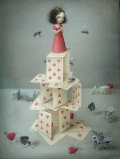 "Nicoletta Ceccoli's ""Heavenly Nightmares"" Kind of love this"