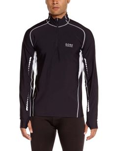 568f3ffc774 Gore Running Wear Mens Mythos Thermo Shirt BlackAlum Grey XLarge --  Continue to the product