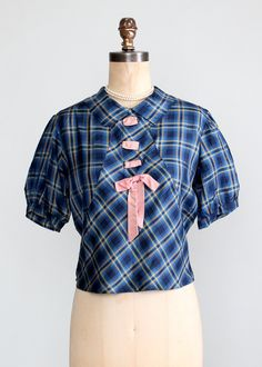 Vintage 1930s Plaid Silk Blouse with an NRA Label http://www.georginayoungellis.com/Excerpt.html