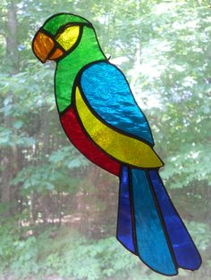 stained glass parrot #StainedGlassEasy
