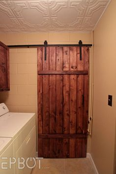 EPBOT: Make Your Own Sliding Barn Door - For Cheap! totally going to do this in the new house!!!