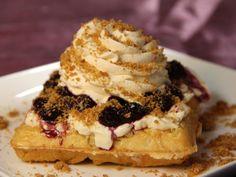 Blueberry Cinnamon Cheesecake Pearl Sugar Liege Waffles