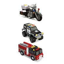 "Tonka Toughest Minis 3pk - Police Motorcycle, Ridge Rescue & Fire Engine - Shelcore - Toys""R""Us"