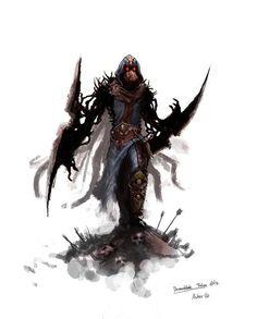 Fan Made Demonblade Talon Skin League Of Legends Community, League Of Legends Talon, Character Concept, Character Art, Concept Art, Character Design, Starcraft, Konosuba Wallpaper, Fantasy Creatures