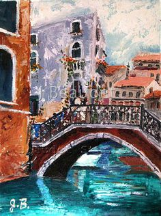 Print of Original Oil Painting Venice Italy by JBeaudetStudios, $15.00