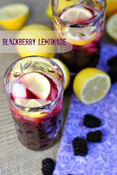Blackberry Lemonade |you-made-that.com  Such a refreshing summertime drink!