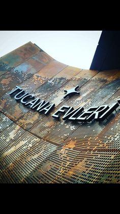 MultiPerforated Rusted Corten Steel Panel Wall // Tucana Evleri - Tucana Residential // Metal Fabricator: KASSO Engineering