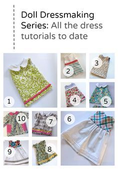 Doll Dressmaking Series: 10 Dresses — Phoebe&Egg - - Ten Doll Dress tutorials and the free patterns to make them American Girl Outfits, Ropa American Girl, American Doll Clothes, Sewing Doll Clothes, Sewing Dolls, Girl Doll Clothes, Barbie Clothes, Girl Dolls, Dress Clothes