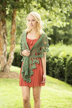 Flowering Herb Scarf by Universal Yarn - free crochet pattern.