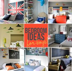 Decor  Inspiring Bedrooms for Boys  June 29, 2012 By Ashley 10 Comments    12 Boy's bedroom ideas to inspire your decor via lilblueboo.com