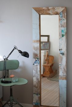 mirror frame made from old salvaged reclaimed wood