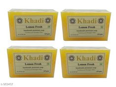 Body KHADI LEMON FRESH SOAP PACK OF 4  *Product Name* Khadi Lemon Bath Soap  *Product Type* Soap  *Capacity* 125 gm Each  *Key Features & Benefits* They have great scent and made from mild glycerine such that your skin will feel smooth & silky after using. It has refreshing astrigent qualities which will give suprior conditioning & moisturizing lather.  *Flavor* Lemon  *Description* It Has 4 Pack Of Handmade Soaps  *Sizes Available* Free Size *   Catalog Rating: ★4.2 (342)  Catalog Name: Khadi Handmade Soap Vol 7 CatalogID_114119 C52-SC1272 Code: 542-969407-