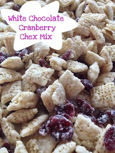 My Pinterest Reality: White Chocolate Cranberry Chex Mix