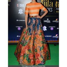 Art Silk Floral Print Multicolour Semi Stitched Bollywood Designer Lehenga - PA01