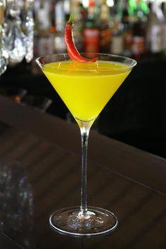 'Hoi An Market' - a sweet mango #martini with a hint of chili and vanilla at the Bar at The Nam Hai