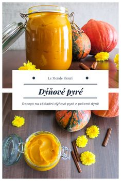 Dýňové pyré / Pumpkin puree. Základní recept z pečené dýně. Marmalade, Cantaloupe, Spices, Food And Drink, Fruit, Recipes, Autumn, Spice, Fall Season