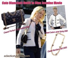 Cate Blanchett Outfit in Blue Jasmine Movie