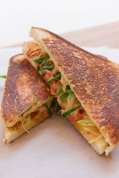 Kimchi Grilled Cheese recipe from PBS Food. (serve with a spicy simple ...